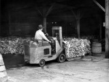 Man Driving Forklift Photographic Print by George Marks
