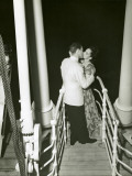 Couple Embracing in a Kiss Photographic Print by George Marks
