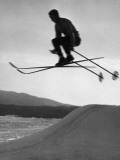 Skier in Mid Air Photographic Print by George Marks