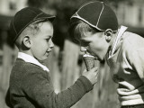 Two Boys Sharing Ice Cream Photographic Print by George Marks
