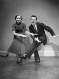 Woman and Man Dancing Reproduction photographique par George Marks