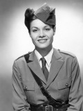 Woman in Military Uniform Photographic Print by George Marks