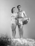 Couple at the Beach Photographic Print by George Marks
