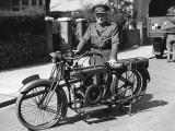 Military Motorbike Photographic Print