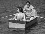 Couple in Row-Boat Photographic Print by George Marks