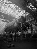 Lifting a Train Photographic Print