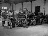 Bentley Garage Photographic Print