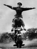 Stunt Riding Photographic Print