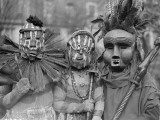 African Masks Photographic Print