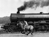 Steamy Steed Photographic Print