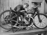 Bike Mechanic Photographic Print