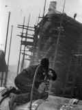 Shipyard Worker Photographic Print