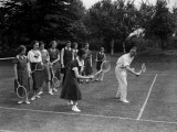 Tennis Lesson Photographic Print