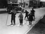 Skiing in Japan Photographic Print