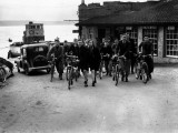 Cycling Group Photographic Print