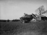 Sidecar Wheelie Photographic Print
