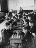 Chess at School Photographic Print