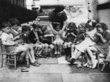 Knitting Group Photographic Print