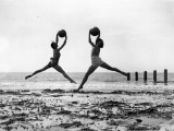 Beach Dancers Photographic Print