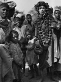 Group of Children and Hindu Beggars, India Photographic Print by Charles Phelps Cushing