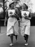 Nurses' Tennis Photographic Print