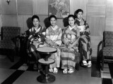 Four Japanese Women Wearing Kimonos, Portrait Photographic Print by Charles Phelps Cushing