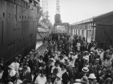 Ship Arriving in Dock, Manila, Philippines Photographic Print by Charles Phelps Cushing