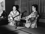Japanese Musicians Photographic Print by Charles Phelps Cushing