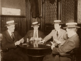 Four Men Playing Cards Photographie