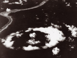 Aerial View of a Nuclear Bomb Explosion, Able Day Test, Bikini, 1St July 1946 Photographic Print