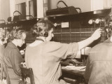 Female Switchboard Operators Photographic Print