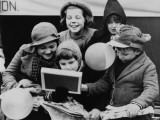 Evacuees at Christmas Photographic Print