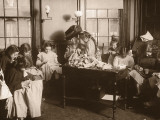 Girls Sewing Class With Teacher Photographic Print