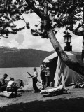 Family Camping Photographic Print