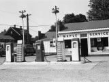 Urban Gas Station Photographic Print by George Marks