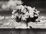 Nuclear Bomb Explosion, Baker Day Test, Bikini, 25th July 1946 Photographic Print