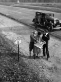 Family Consulting Road Map on Georgia Highway Photographic Print