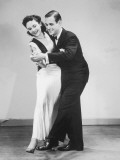 Couple in Formal Wear Dancing Photographic Print