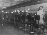 Female Switchboard Operators Connecting Calls Photographic Print
