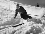 Man Skiing Fotografisk tryk