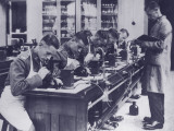 British Royal Army Medical Technicians Training in Laboratory Photographic Print