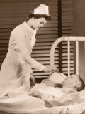 Nurse Taking Male Patients Temperature Photographic Print
