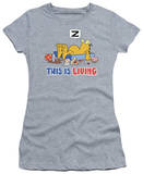 Juniors: Garfield-This Is Living T-Shirt