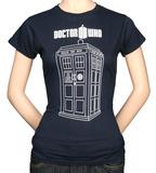 Juniors: Dr. Who - Tardis Vector Graphic Vêtements