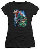 Juniors: Justice League America-Heroes Unite T-shirts