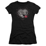 Juniors: I Love Lucy-Hearts And Dots T-shirts
