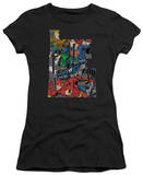 Juniors: Justice League America-Lettered League T-Shirt