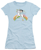 Juniors: Betty Boop-Unicorn & Rainbows Shirt