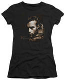 Juniors: James Dean-Brown Leather T-Shirt