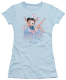 Juniors: Betty Boop-Pink Champagne T-Shirt